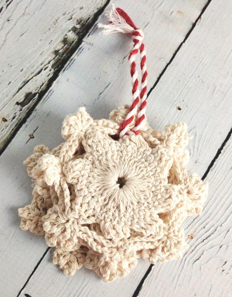 Snowflake Crochet Coasters Set of 4