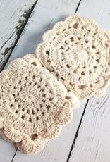 Natural Crochet Coasters Set of 4