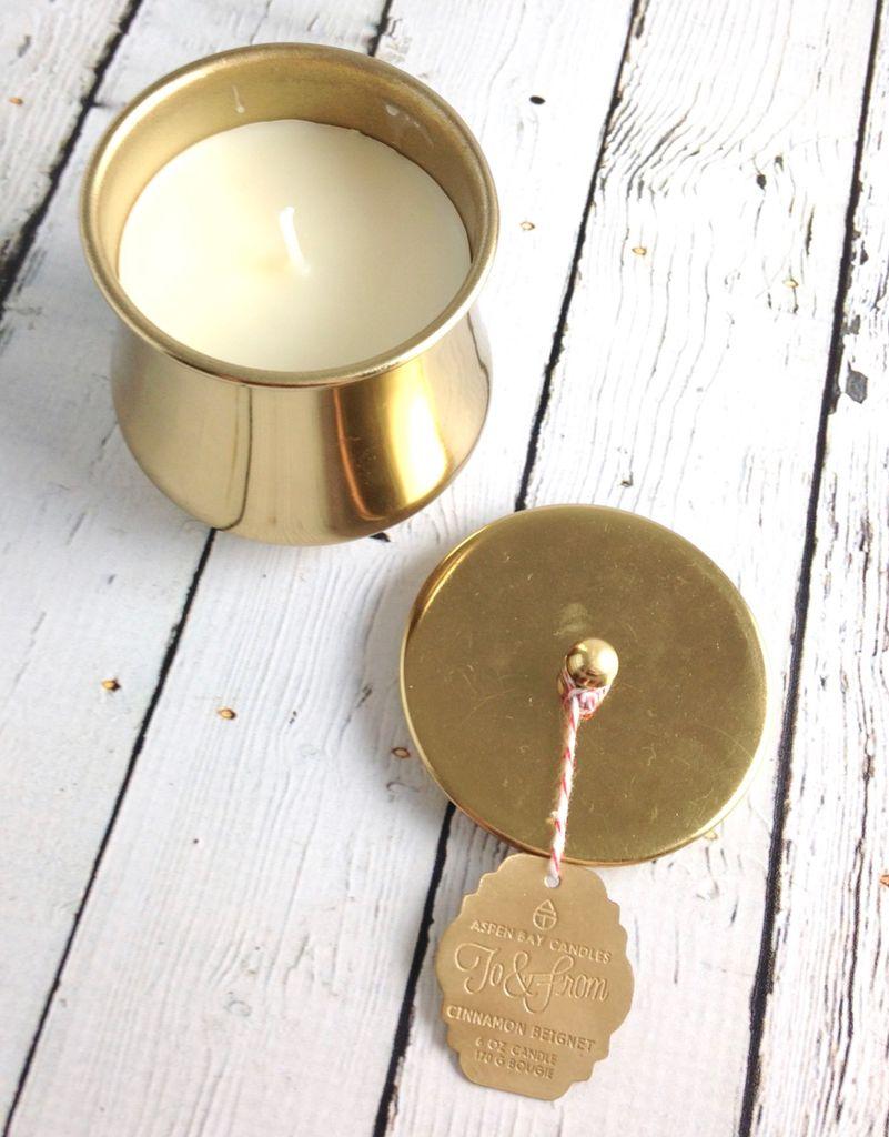 6 oz Cinnamon Beignet Holiday Tin Candle
