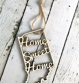 Home Sweet Home Indiana Ornament