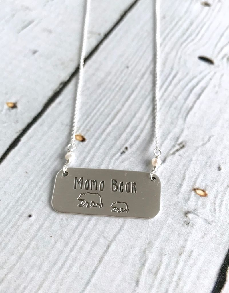 necklace optional birthstone name kole and products with mama charms mamabear bear