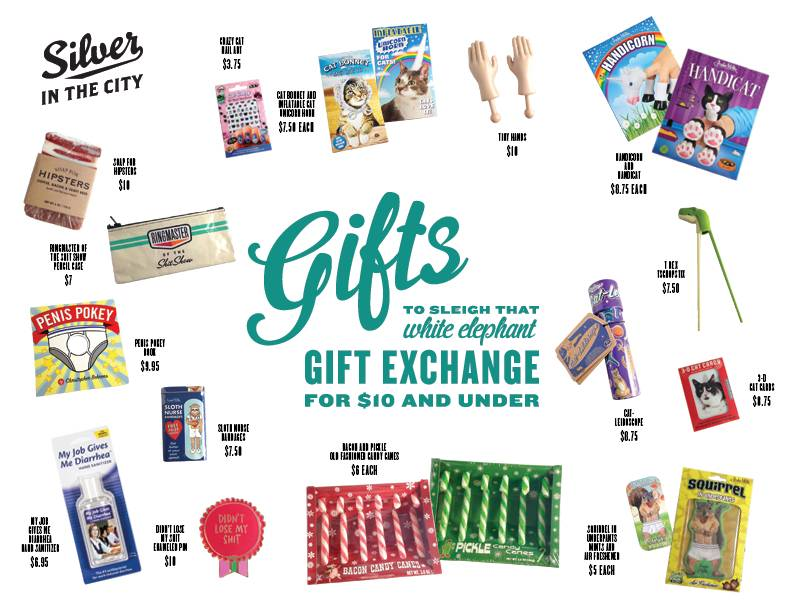 Gifts to Sleigh Your White Elephant Gift Exchange