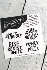 2018 Share Your Voice Women's March Stickers by Penelope Dullaghan and Pincause.
