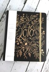 2018 Floral Foil Covered Planner