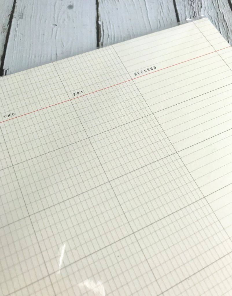 Monthly A4 Desk Pad