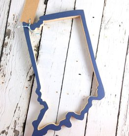 PinkLinen Blue Indiana State Cut Out