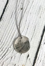 Sterling Litho Eastside Tracks to Indy Necklace - Emily Schwank Collection