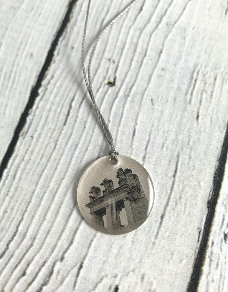Sterling Litho Holliday Park Ruins Necklace - Emily Schwank Collection