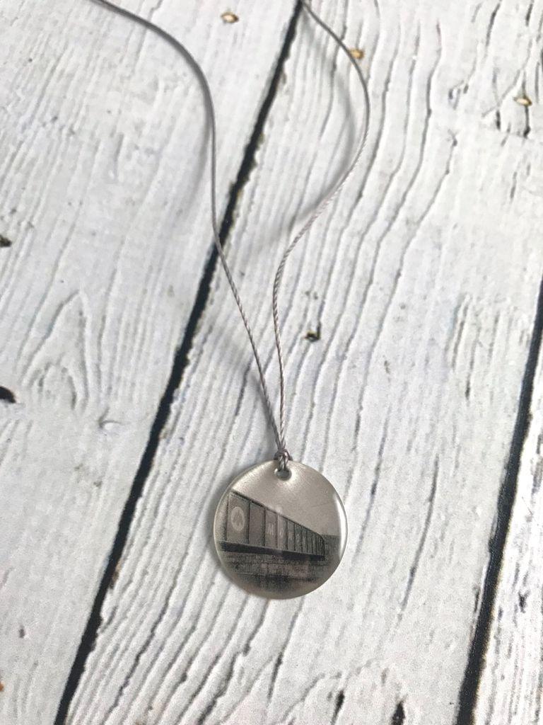 Sterling Litho Monon Trail Bridge Necklace - Emily Schwank Collection