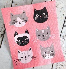 Cats Meow Swedish Dishtowel