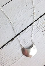 Handmade Silver Shield Aros Necklace