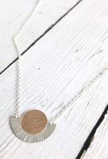 Handmade Silver Sunburst Necklace