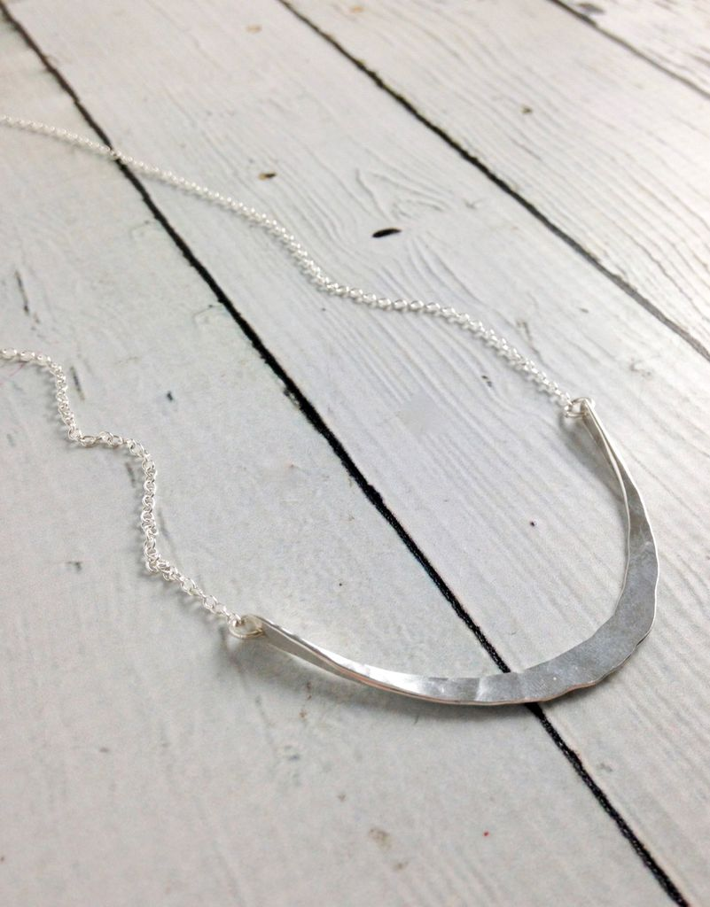 Handmade Silver Siren Necklace