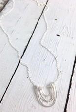Sterling Silver Cusco U-Shape Necklace