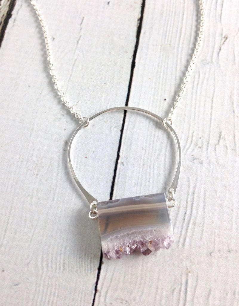 Handmade Silver Bedrock Necklace