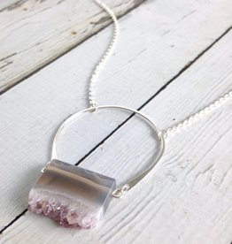 Handmade Silver Bedrock Necklace