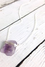 Handmade Silver Lolita Necklace with Amethyst