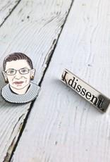 Ruth Bader Ginsburg Enamel Pin