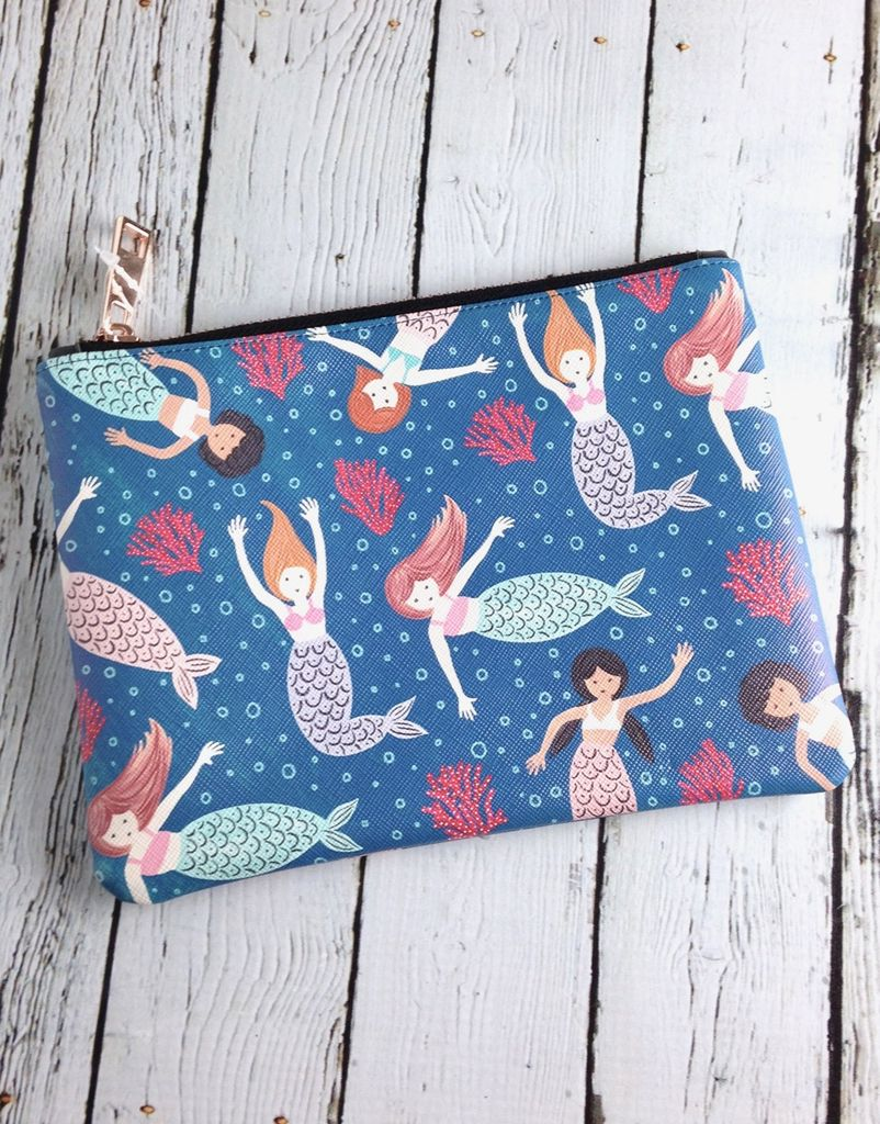 Mermaid Tales Medium Zipper Pouch