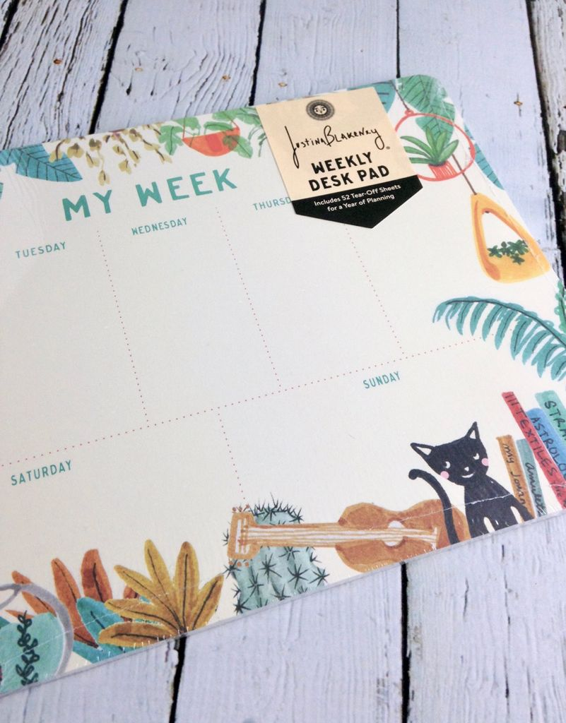 Holiday At Home Weekly Desktop Planner