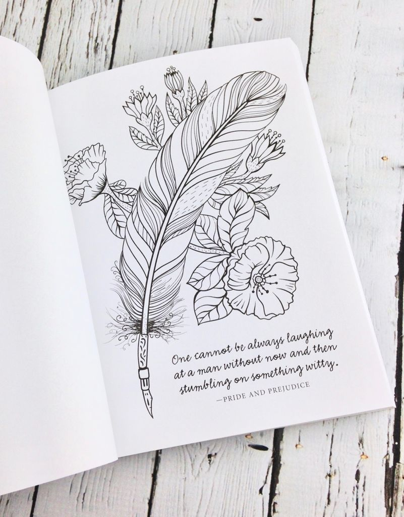 Jane Austen: A keepsake book of Quotes to Color