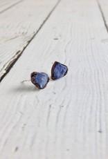 Tanzanite Electroformed Stud Earrings