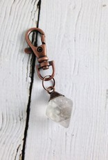 Raw Fluorite and Copper Keyring by Hawkhouse