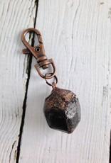 Raw Garnet and Copper Keyring by Hawkhouse