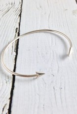 Sterling Silver Bangle with Triangles