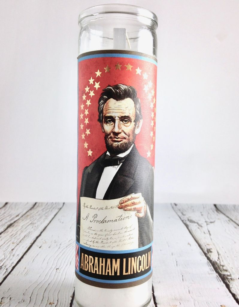 Lincoln Secular Saint Candle