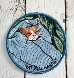 Natural Habitat Cat Iron On Patch