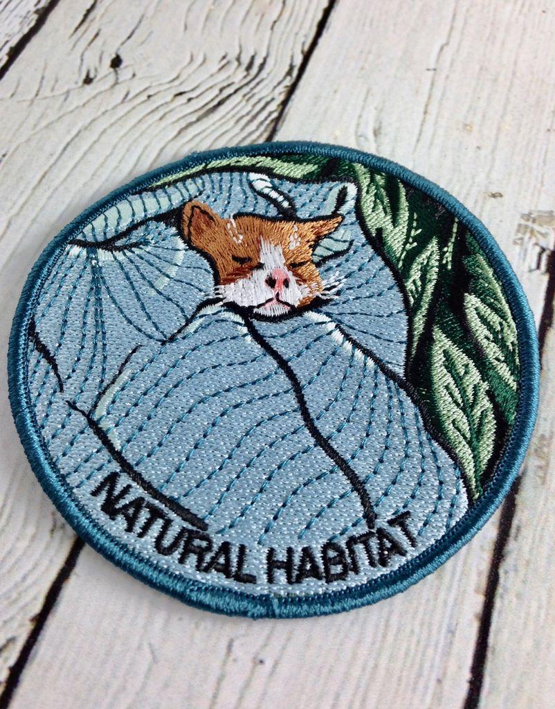 Natural Habitat Cat Iron On Patch
