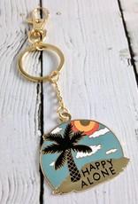 Happy Alone (Island) Keychain