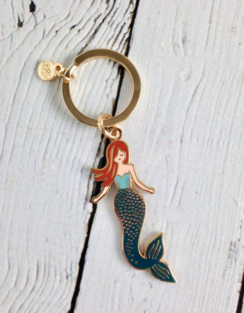 Mermaid Enamel Keychain