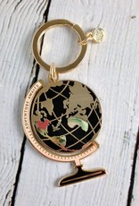 Globe Enamel Keychain