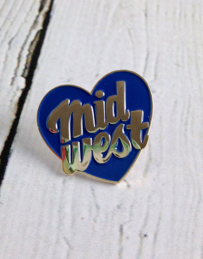 Midwest City Enamel Pin