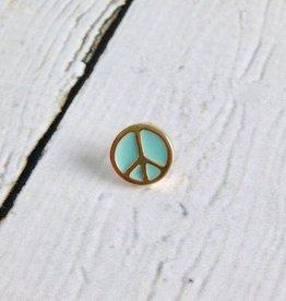 Peace Peace Peace Enameled Pin
