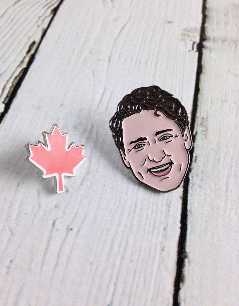 Justin Trudeau Enamel Pin