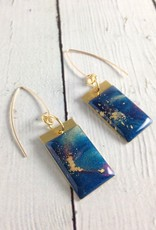 Handmade Stardust Earrings by No Man's Land on sterling silver GF wires