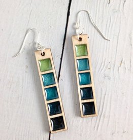 Handmade Coastal Gradient Bar Earrings