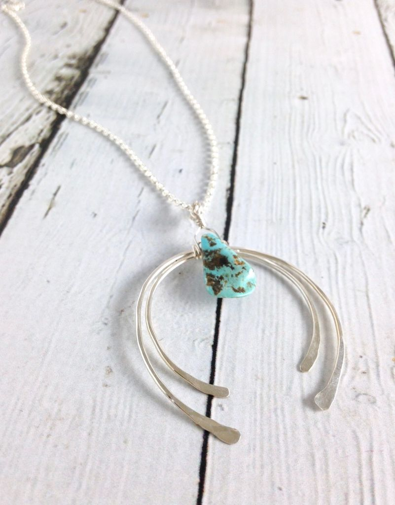 Handmade Silver Crow Necklace