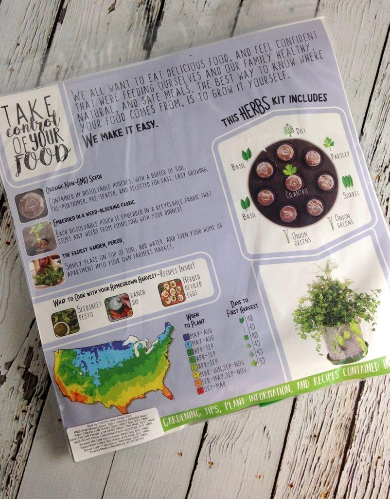 GYO Herbs Seedsheet