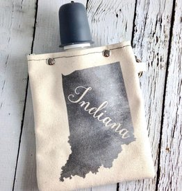 Indiana  8oz Flask