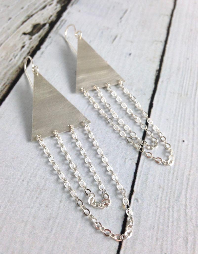 Handmade Silver Empress Earrings