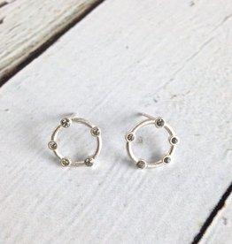 Handmade Sterling Silver Infinite Love Stud Earrings