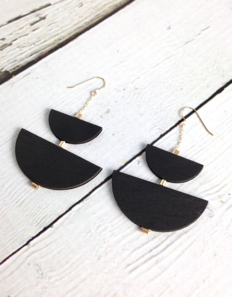 Offset Petit Earrings by Molly M. Designs