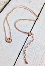 """Handmade Rose Gold """"Karma"""" Small Linked Ring Necklace"""