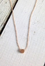 "Handmade ""The Circle"" Necklace in Rose Gold"