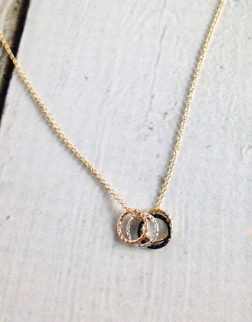 """Handmade Silver """"Tiny Sparkle Karma"""" Necklace"""