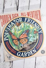 Butterfly Pollinator Friendly Garden Sign